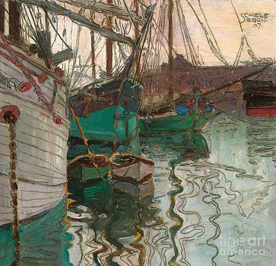 Painting - Port Of Trieste by Egon Schiele