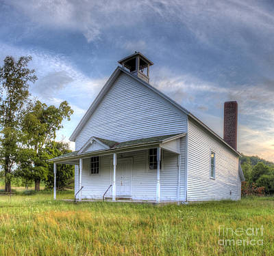 Port Oneida Schoolhouse Art Print