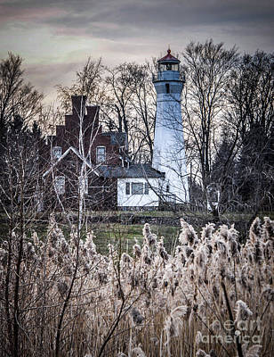 Photograph - Port Sanilac Light by Ronald Grogan