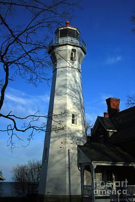 Michigan Port Sanilac Photograph - Port Sanilac Lighthouse by Kathy DesJardins
