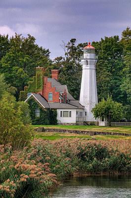Michigan Port Sanilac Photograph - Port Sanilac Lighthouse Michigan by Martin Belan