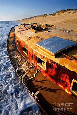 Port Side Down Captain - Outer Banks Art Print by Dan Carmichael