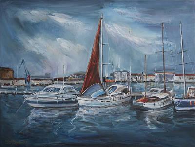 Port - Sunny Day Art Print by Stefano Popovski