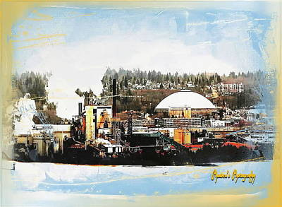 Port Tacoma Dome Art Print by Sadie Reneau