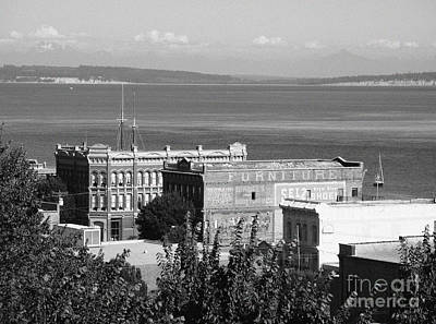 Photograph - Port Townsend From The Bell Tower Bw by Connie Fox
