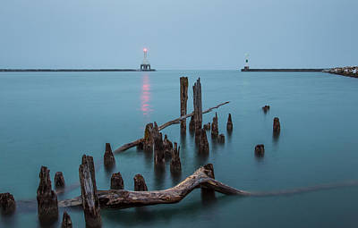 Photograph - Port Washington Harbor by Dave Chandre