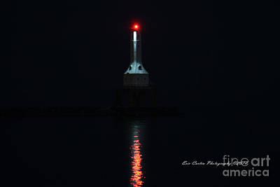 Port Washington Night Light. Art Print by Eric Curtin