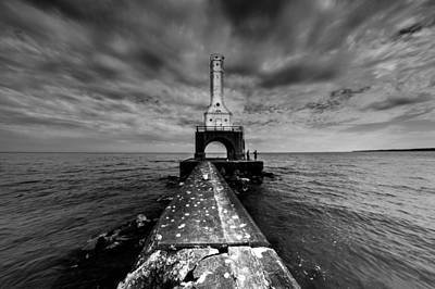 Photograph - Port Washington Pierhead Light by Randy Scherkenbach