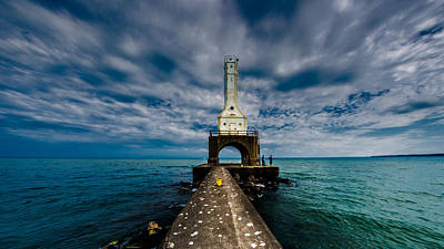 Photograph - Port Washinton Pierhead Light by Randy Scherkenbach