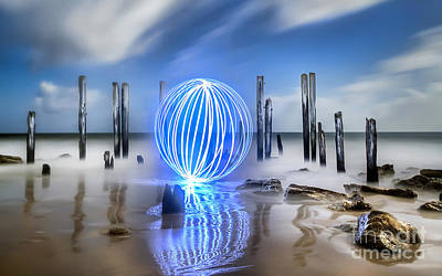 Port Willunga Orb Art Print by Shannon Rogers