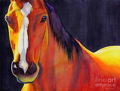 Spirit Horse Painting - Portabello by Robert Hooper