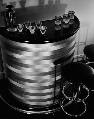 Party Photograph - Portable Bar by Martinus Andersen