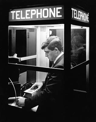 Payphone Photograph - Portable Computer Terminal by Underwood Archives