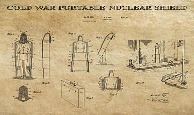 Destruction Digital Art - Portable Nuclear Shield 2 Patent Art by Daniel Hagerman