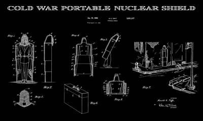 Destruction Digital Art - Portable Nuclear Shield 3 Patent Art by Daniel Hagerman