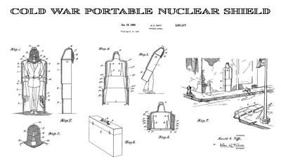 Destruction Digital Art - Portable Nuclear Shield 4 Patent Art  1960 by Daniel Hagerman