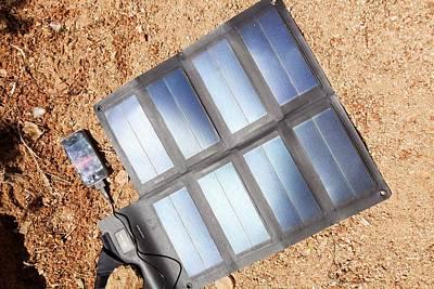 Blue Mobile Photograph - Portable Solar Mat by Ashley Cooper