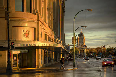Winnipeg Photograph - Portage And Memorial by Bryan Scott