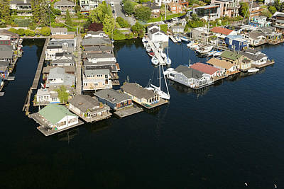 Photograph - Portage Bay And Houseboats, Seattle by Andrew Buchanan/SLP