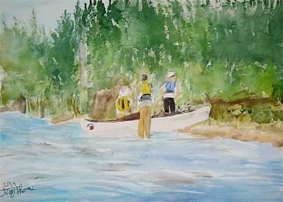 Portaging Into Trell Lake Original by Troy Thomas