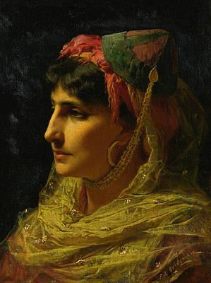 Portaits Painting - Portait Of A Woman by Frederick Arthur Bridgman