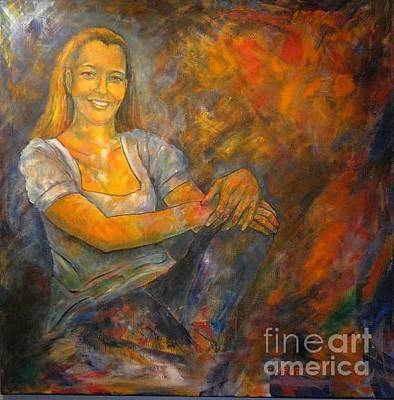 Painting - Portait Of Dr Christina Pressl by Dagmar Helbig