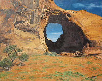 Painting - Portal At Window Rock  by Barbara Barber