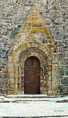 Portal Of St. Lachtain Art Print by John Walsh