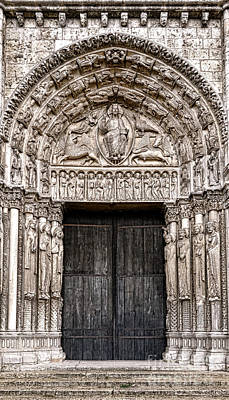 Chartres Photograph - Portal by Olivier Le Queinec