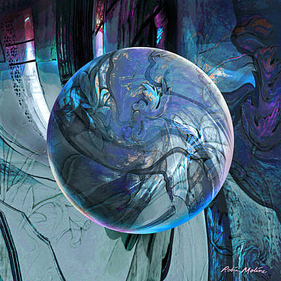 Round Digital Art - Portal To Divinity by Robin Moline