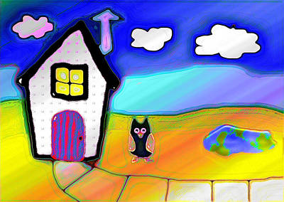 Night Owl Mixed Media - Portal To Earth by Melissa Osborne