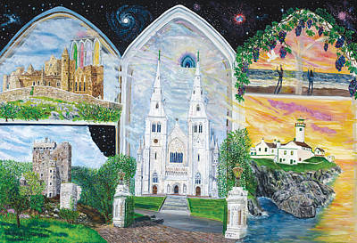 Rock Of Cashel Painting - Portals Of Ireland by Mike De Lorenzo