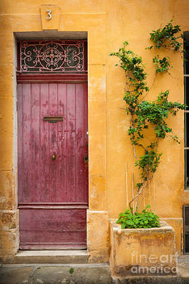 Arles Photograph - Porte Rouge by Inge Johnsson