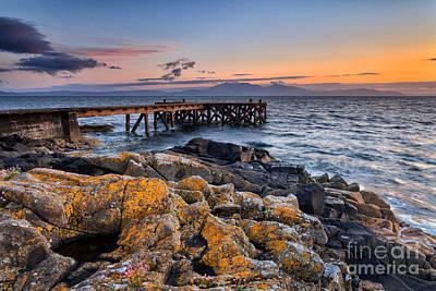 West Coast Sunset  - Portencross And Arran by John Farnan