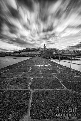 Cornish Wall Art - Photograph - Porthleven Pier Portrait  by John Farnan