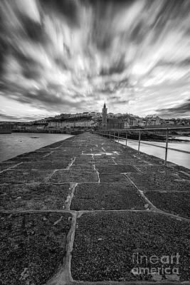 In Memory Of Photograph - Porthleven Pier Portrait  by John Farnan