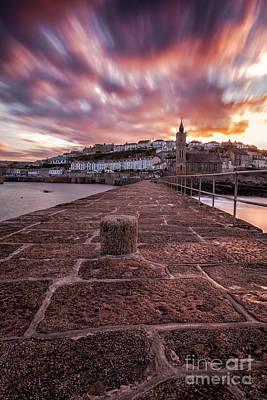 In Memory Of Photograph - Porthleven Pier Sunrise by John Farnan