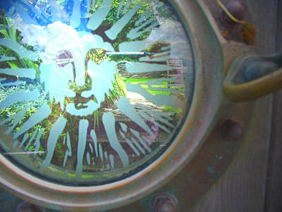 Photograph - Porthole To The Secret Garden by Amber Nissen