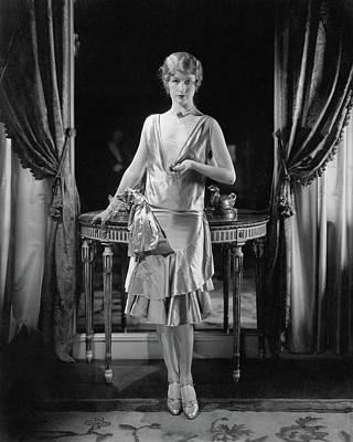 Portia Grafton Wearing A Patou Dress Art Print