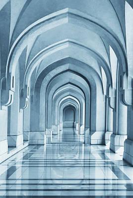 Arch Wall Art - Photograph - Portico by Hans-wolfgang Hawerkamp