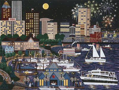 Portland @ Night Art Print