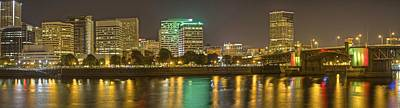 Photograph - Portland At Night by SC Heffner