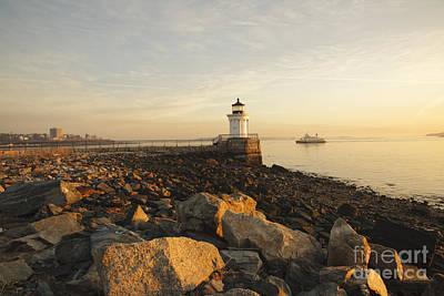 Fore River Photograph - Portland Breakwater Light - Portland Maine by Erin Paul Donovan