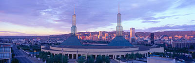 Convention Centers Photograph - Portland Convention Center, Sunrise by Panoramic Images