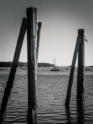 Photograph - Portland Harbor  7p00145b by Guy Whiteley