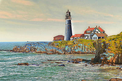 Photograph - Portland Head Altered by Paul Miller