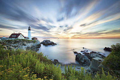 Portland Head Daybreak Art Print by Eric Gendron