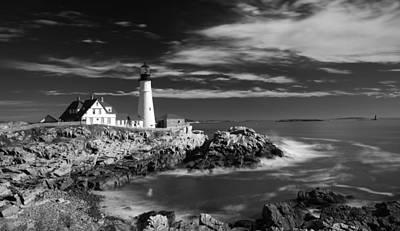 Photograph - Portland Head Light 19482b by Guy Whiteley
