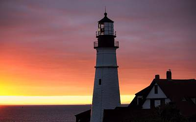 Photograph - Portland Head Light At Dawn by Jenny Hudson