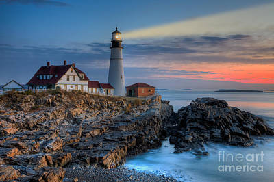 Photograph - Portland Head Light At Sunrise I by Clarence Holmes